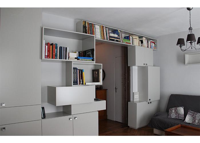 agence ana s gauthier une pi ce vivre sur mesure architecte d int rieur designer paris. Black Bedroom Furniture Sets. Home Design Ideas