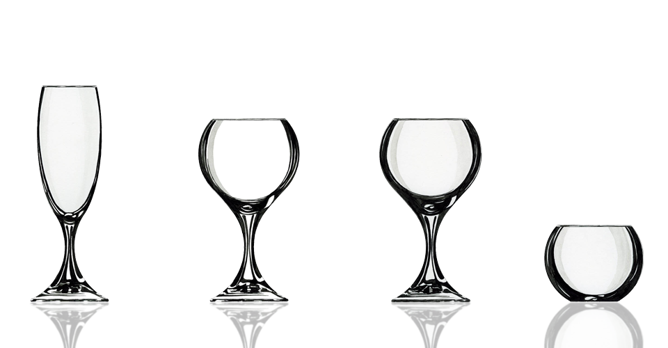 Collection de verres Bulles